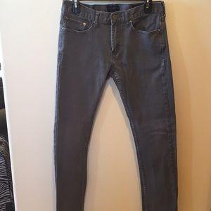 """Men's Gray Denim Skinny Jeans 30""""x32"""""""